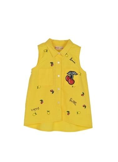 Silversun Kids Kız Çocuk Baskılı Kolsuz Bluz Gc 215540 Sarı